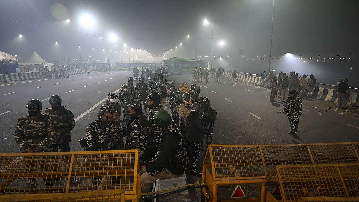 Watch video: Locals clash with police at the Singhu Border in Delhi; police fire teargas shells