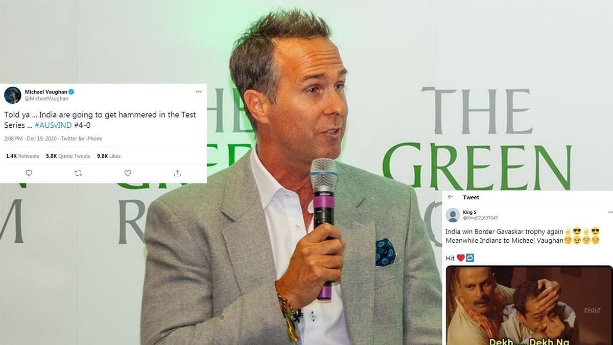 'Pundit' Michael Vaughan gets trolled by Indian fans after series win at Gabba