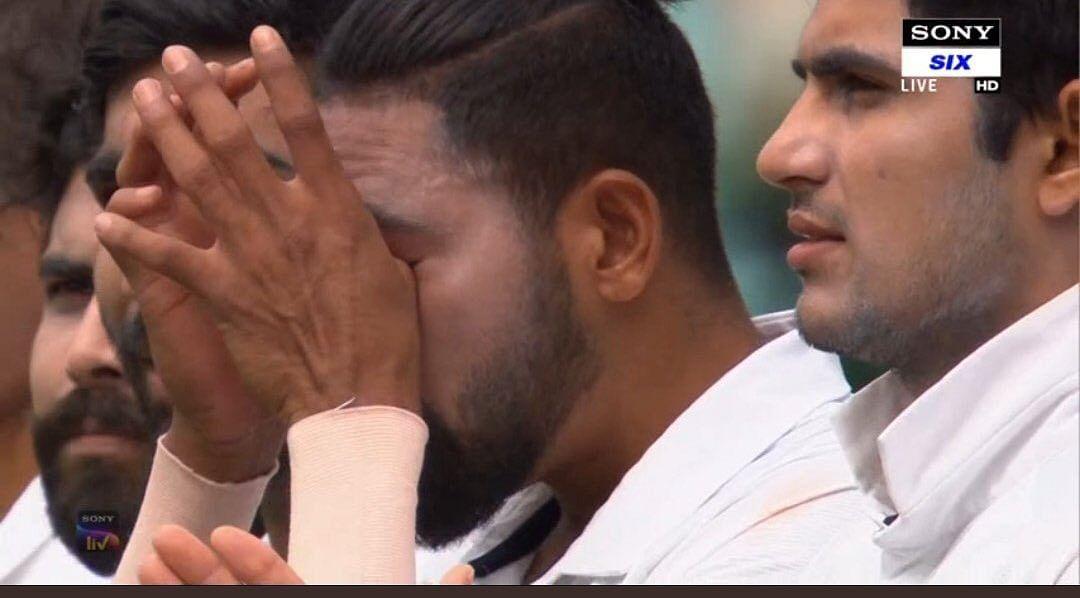 Mohammed Siraj gets emotional during national anthem at Sydney Cricket Ground