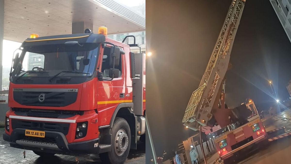 The towering Iveco Magirus turntable ladder (M55L) was acquired by the Amanora Park Township in Pune in 2013