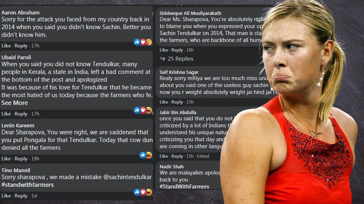 """Sorry Chechi"": Malayalis throng to Maria Sharapova's social media accounts after Tendulkar's tweet"