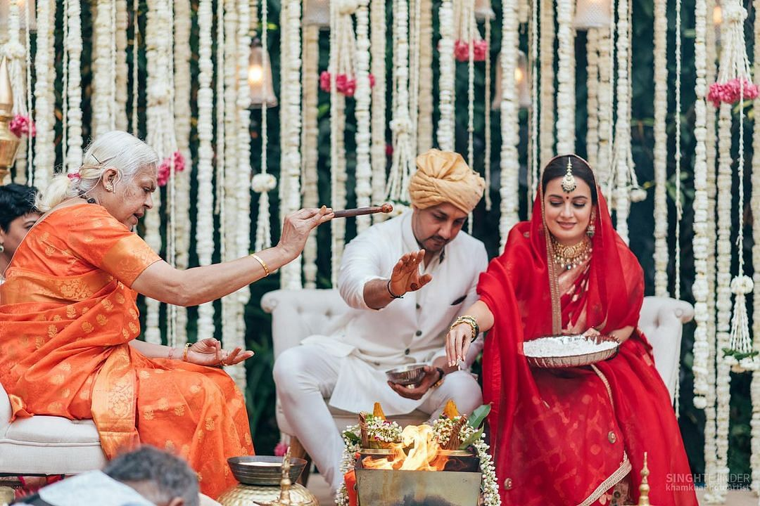 Dia Mirza shared this picture of hers from one of her wedding ceremonies