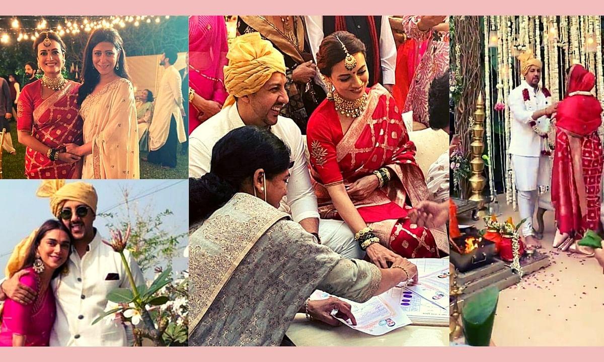 Glimpses of Dia Mirza's wedding ceremony.