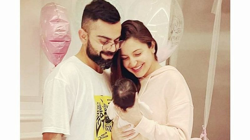 Virat, Anushka share first picture of daughter 'Vamika'