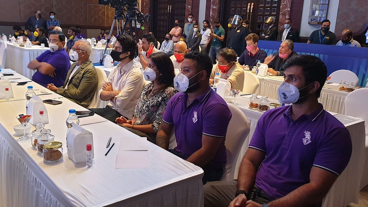 IPL 2021 Auction: Shah Rukh's son Aryan spotted at the KKR auction table