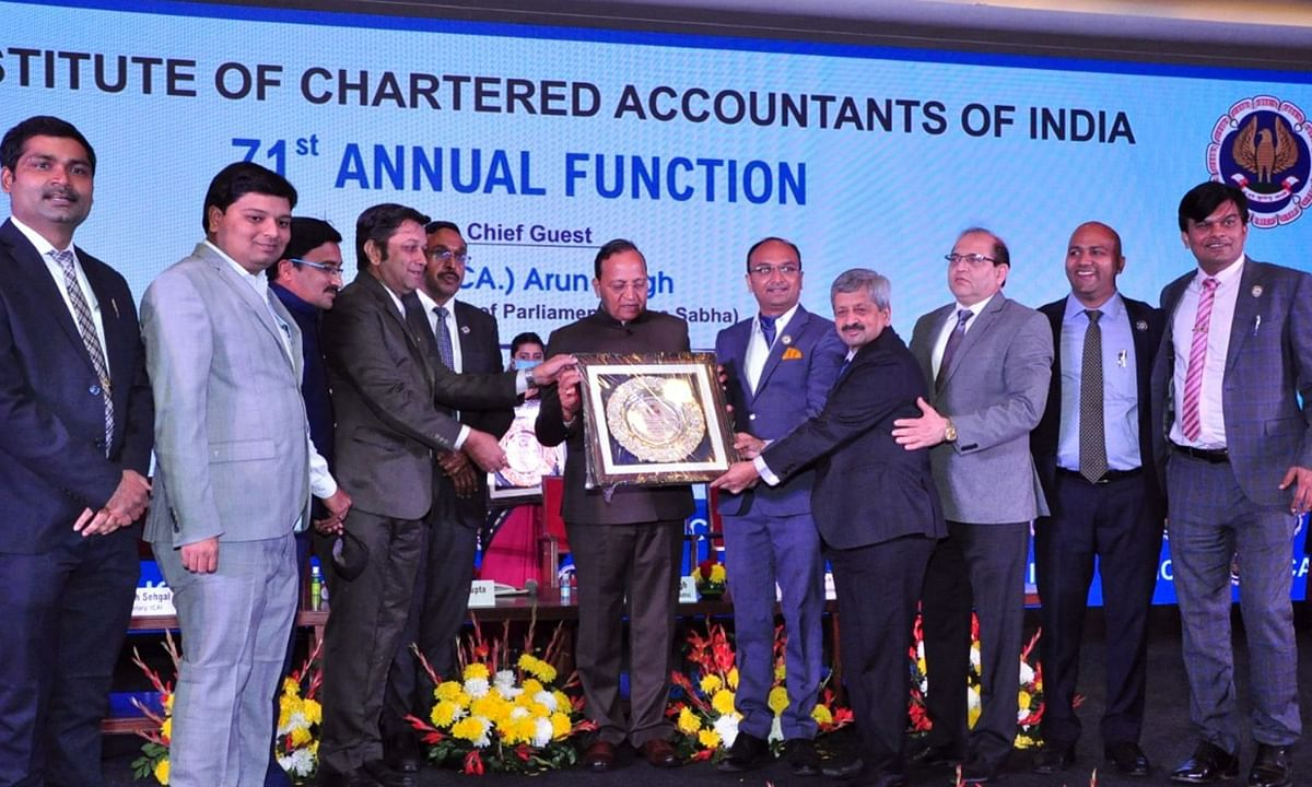 ICAI Pune receiving an award at the 71st Annual Function.