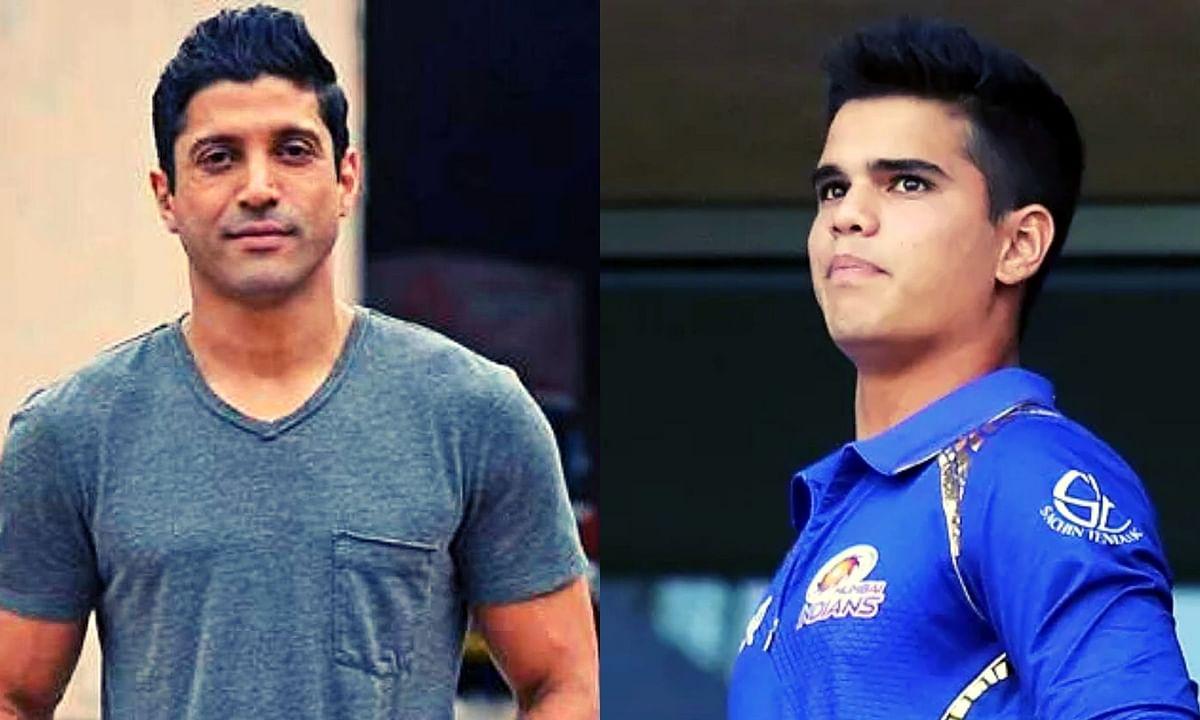 Farhan Akhtar (On left) and Arjun Tendulkar (On Right)