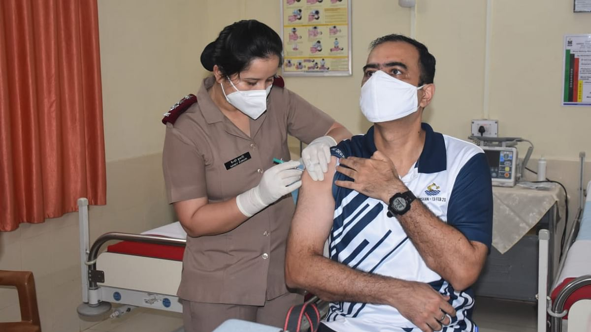 Vaccination drive for navy personnel begins at INS Shivaji