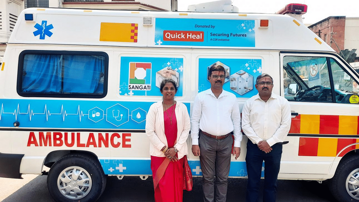 Noble gesture: Quick Heal donates ambulance to NGO for tribal welfare