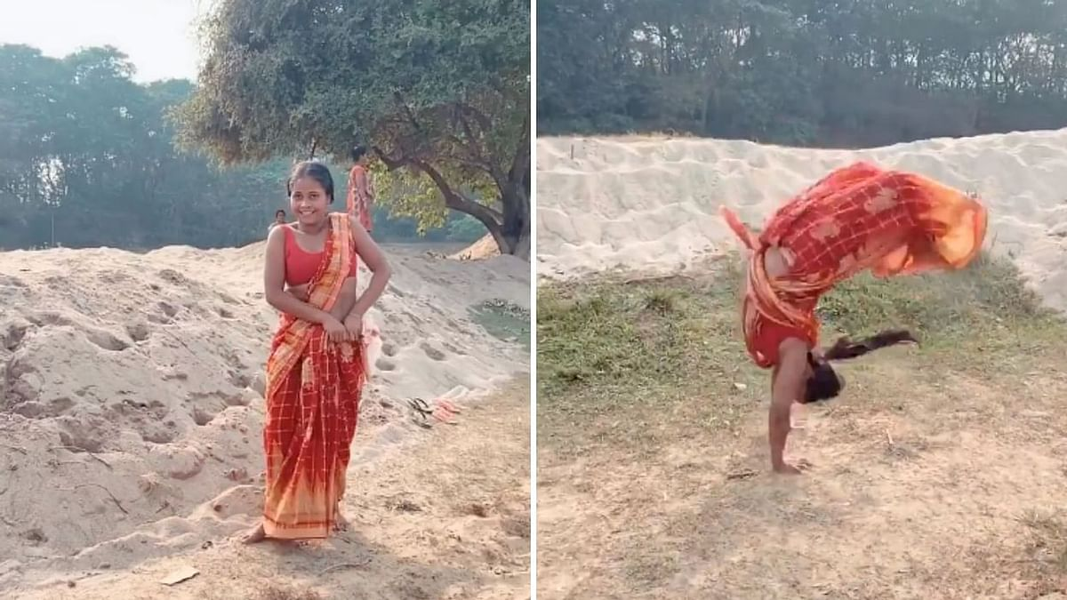 Somersaults in Saree: Meet Mili Sarkar who backflips in a saree with ease