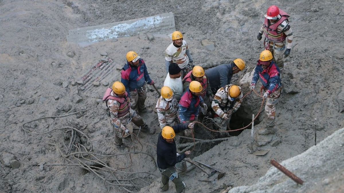 Watch: Footage of rescue operations in the Tapovan tunnel