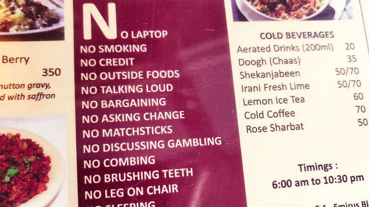 At this Pune Cafe, you can't flirt, sleep or comb. Check out the entire list!