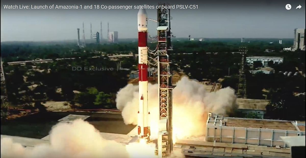 ISRO launches PSLV-C51 carrying Amazonia-1 and 18 other satellites