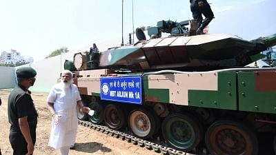 PM Narendra Modi hands over battle tank Arjun Mark 1A to Indian Army