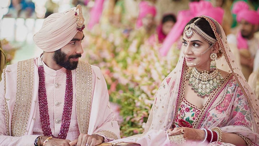 Wishes pour in for Jasprit Bumrah and Sanjana Ganesan on their wedding