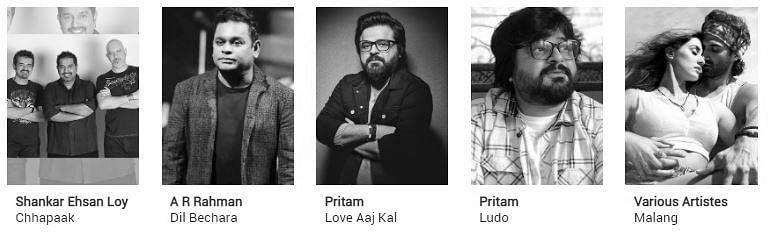 Filmfare Awards 2021 nominations: Best Music Album