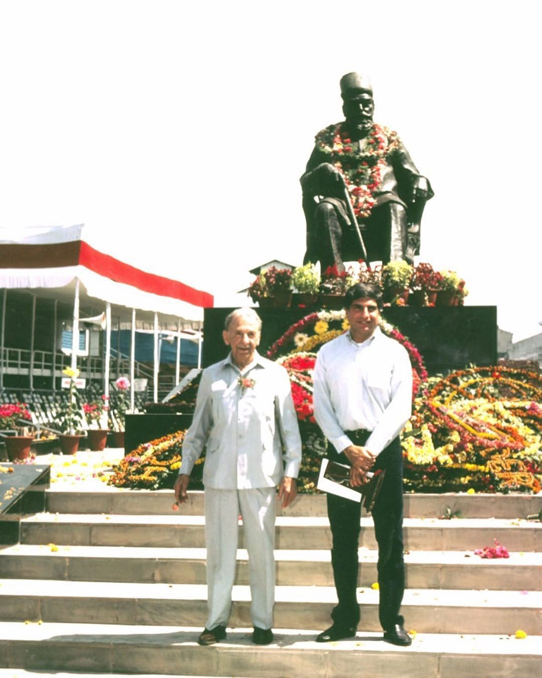Ratan Tata shared an old photograph with JRD Tata on Founder's Day.