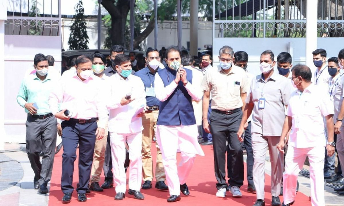 Home Minister of state Anil Deshmukh clicked at Vidhan Bhavan