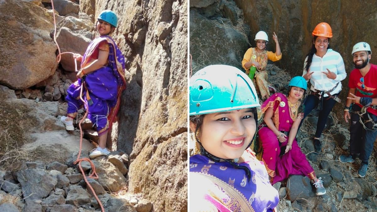 Women's Day Special: Watch how these Pune based girls conquer Duke's Nose in saree!