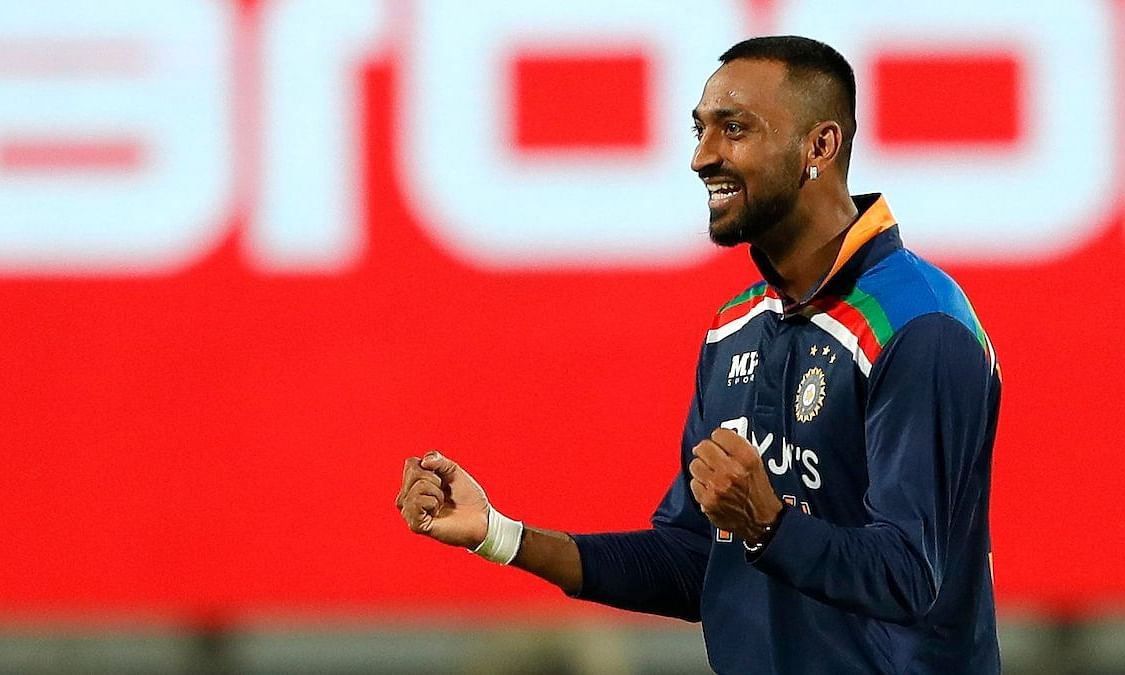 Krunal Pandya made his ODI debut for India against England on Tuesday