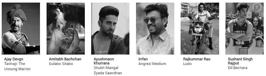Filmfare Awards 2021 nominations: Best Actor In A Leading Role (Male)