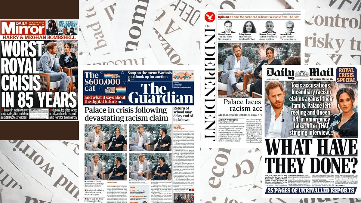 'Worst royal crisis in 85 years'; 'What have they done?': British Press reacts to Meghan, Harry Interview