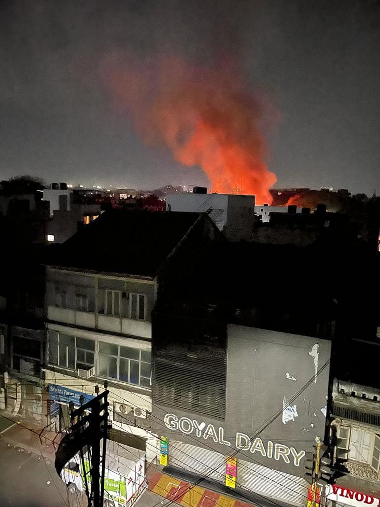 The blaze gutted multiple shops in Shivaji Market of Pune on Tuesday