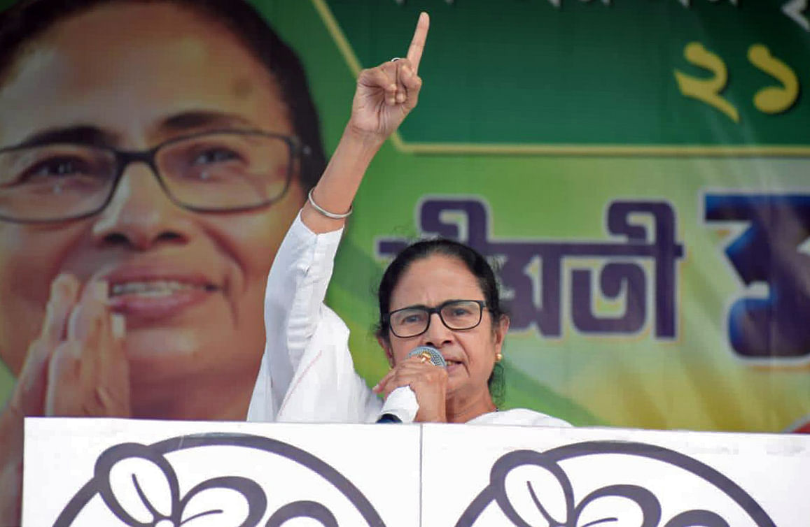 West Bengal Chief Minister Mamata Banerjee releases TMC manifesto ahead of the Assembly Election at her residence, in Kolkata, Wednesday, March 17, 2021.