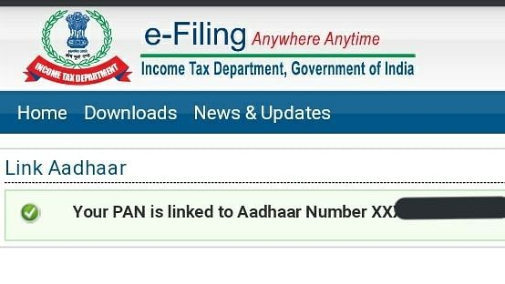 You will get a message once you link PAN to Aadhar