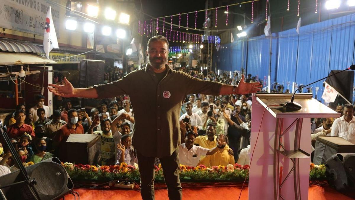 Kamal Haasan during his campaign in Tamil Nadu
