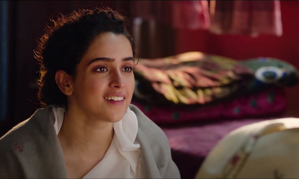 A screengrab from the trailer of 'Pagglait' featuring actor Sanya Malhotra.