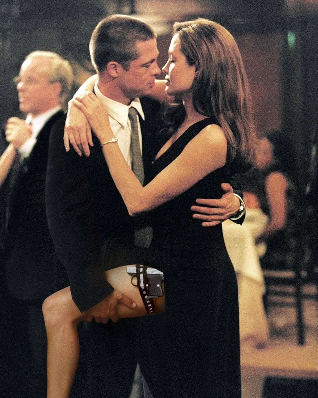 A still from the movie Mr. And Mrs. Smith.