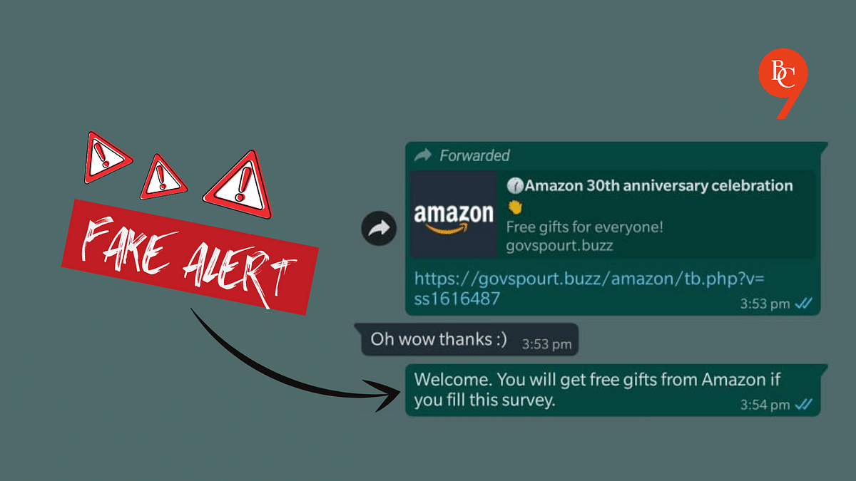 No, Amazon is not giving free smartphones on its 30th anniversary; Beware of this WhatsApp scam!