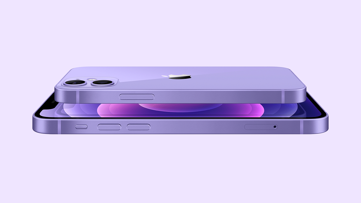 The iPhone 12 and iPhone 12 Mini in a purple finish.