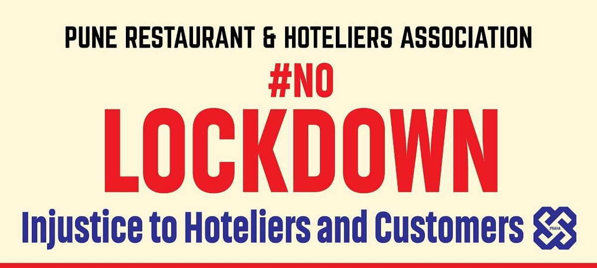 Pune Restaurants and Hoteliers Association now has started displaying the banner outside multiple establishments