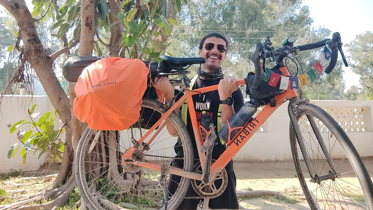 The Hope Monk is pedalling to raise funds for underprivileged children interested in sports
