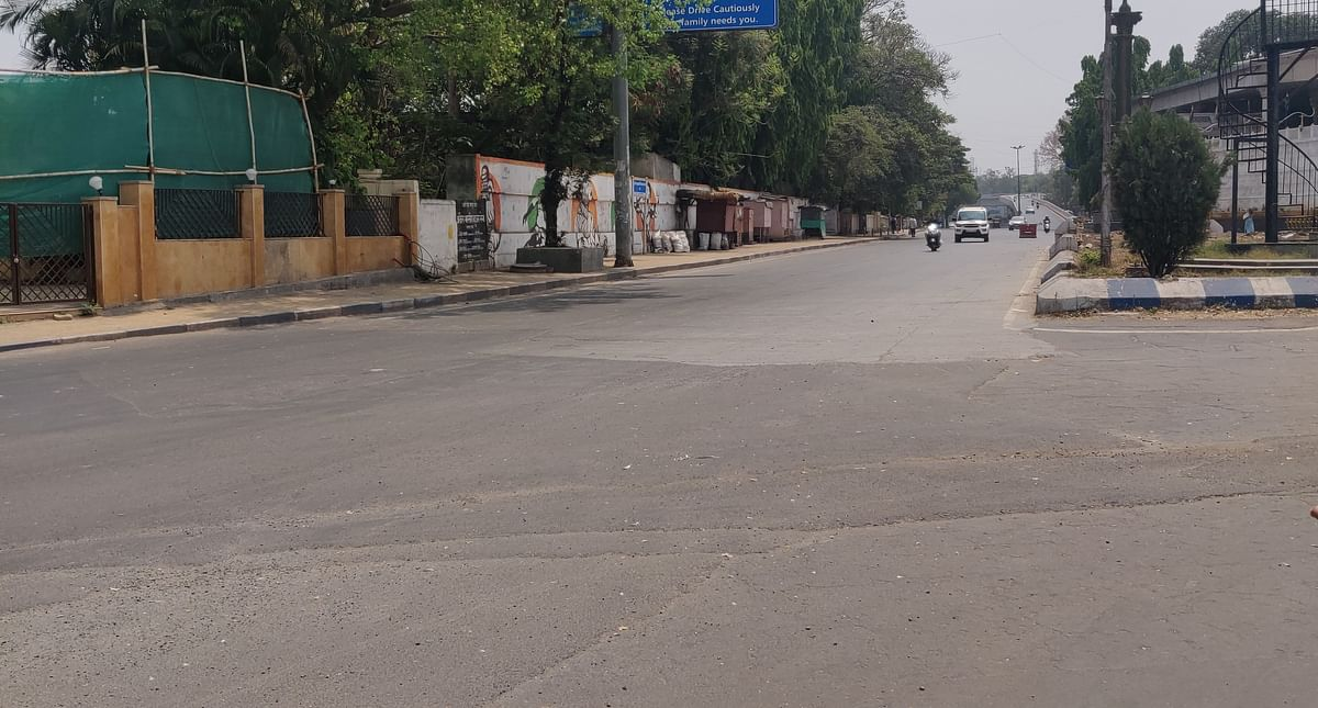 Sarasbaug area of Pune was quieter as Punekars opted to stay indoors due to weekend lockdown