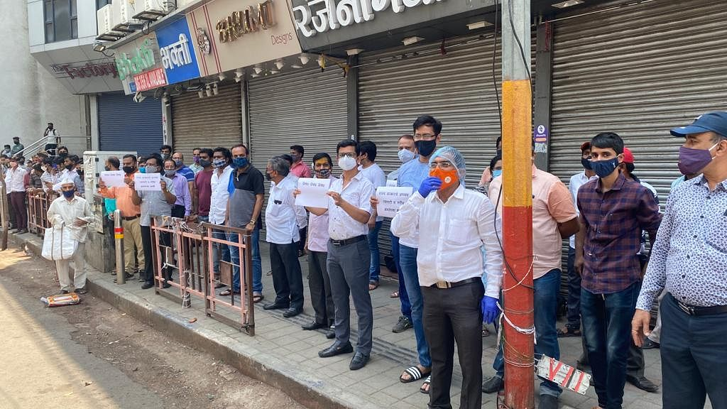 Pune lockdown: Forced to shut shops, traders protest against strict measures
