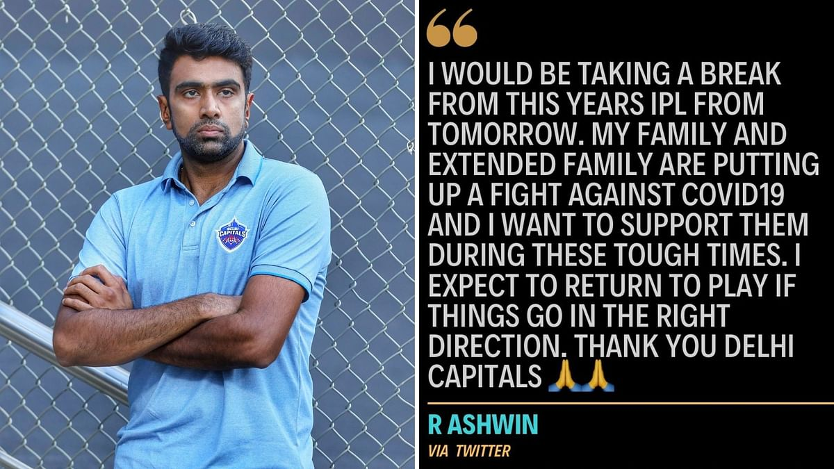 IPL 2021: R Ashwin takes a break to support family in fight against COVID-19