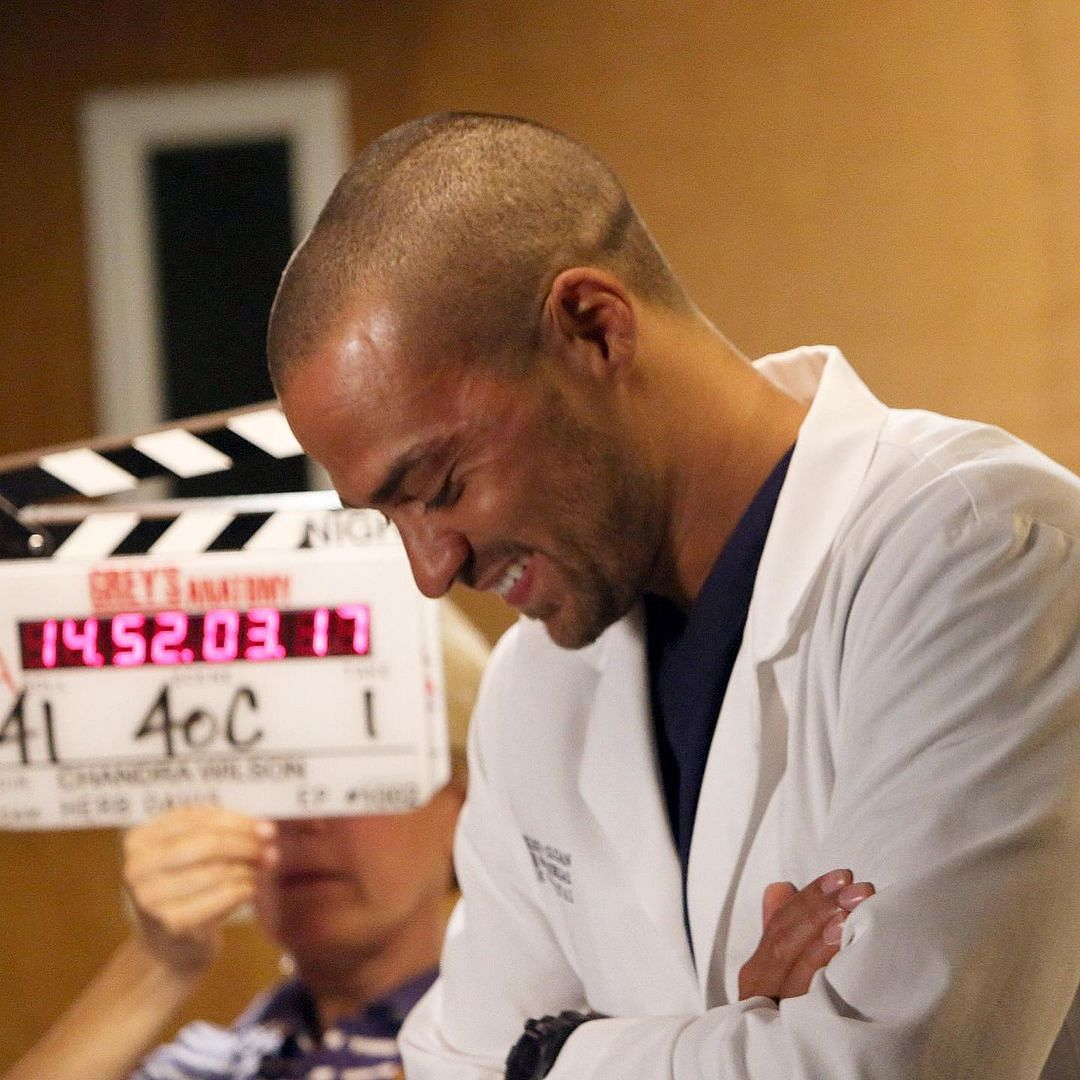 Sharing his news of leaving the show after 12 seasons, Jesse Williams posted this picture on of him on the sets of 'Grey's Anatomy' on Instagram