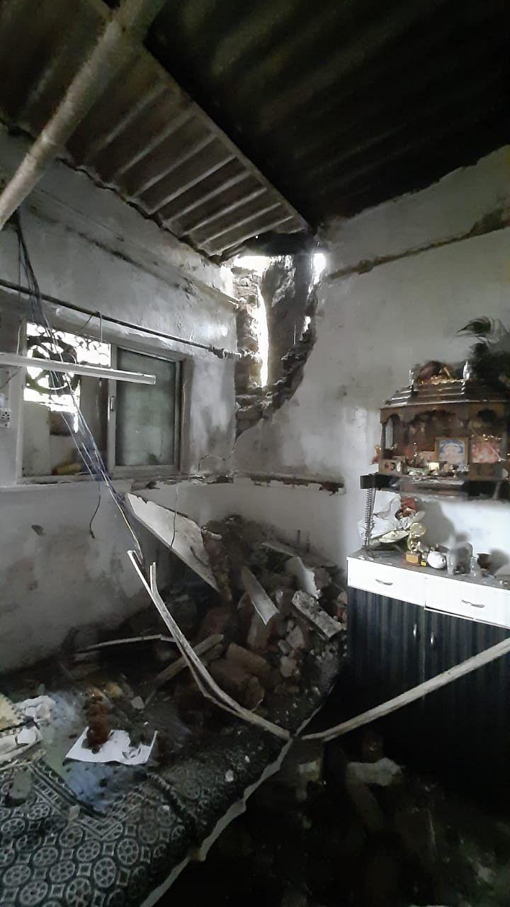 A house in Dahisar, Mumbai was destroyed amid Cyclone Tauktae