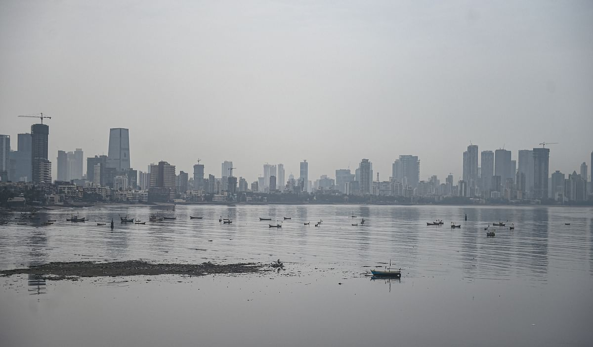 Cloudy weather in Mumbai city due to formation of Cyclone Tauktae on Saturday, May 15, 2021.