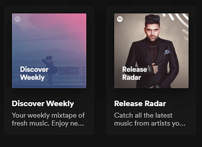 Check out your weekly releases in the Discover Weekly playlist.