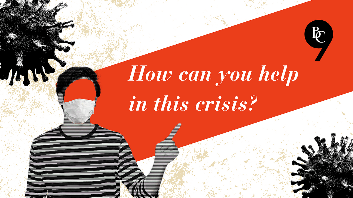 How can you support this crisis? | #COVID19