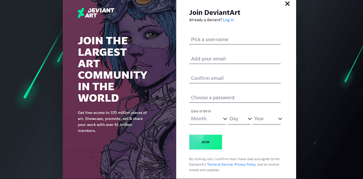 DeviantArt is known as the world's largest online art community.