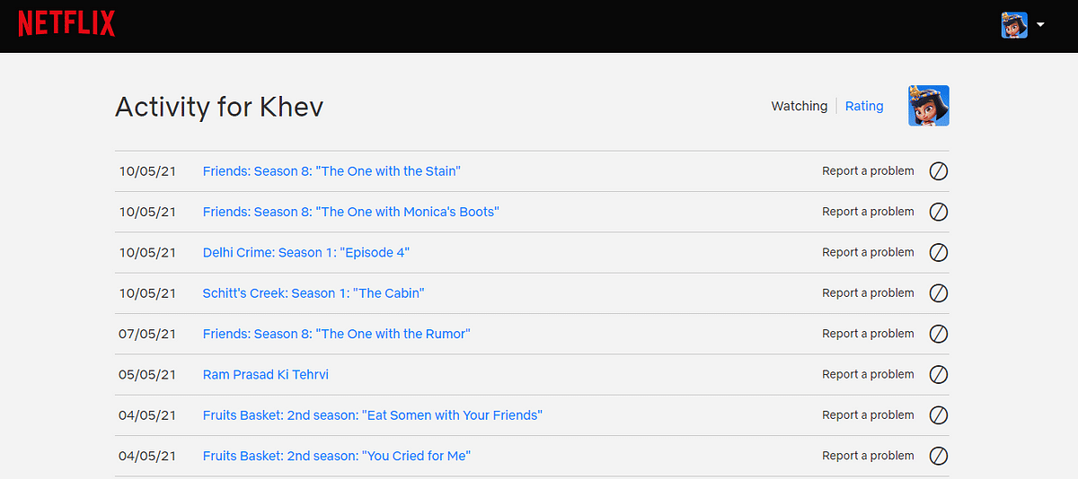 Choose what you want to keep in your viewing history on Netflix.