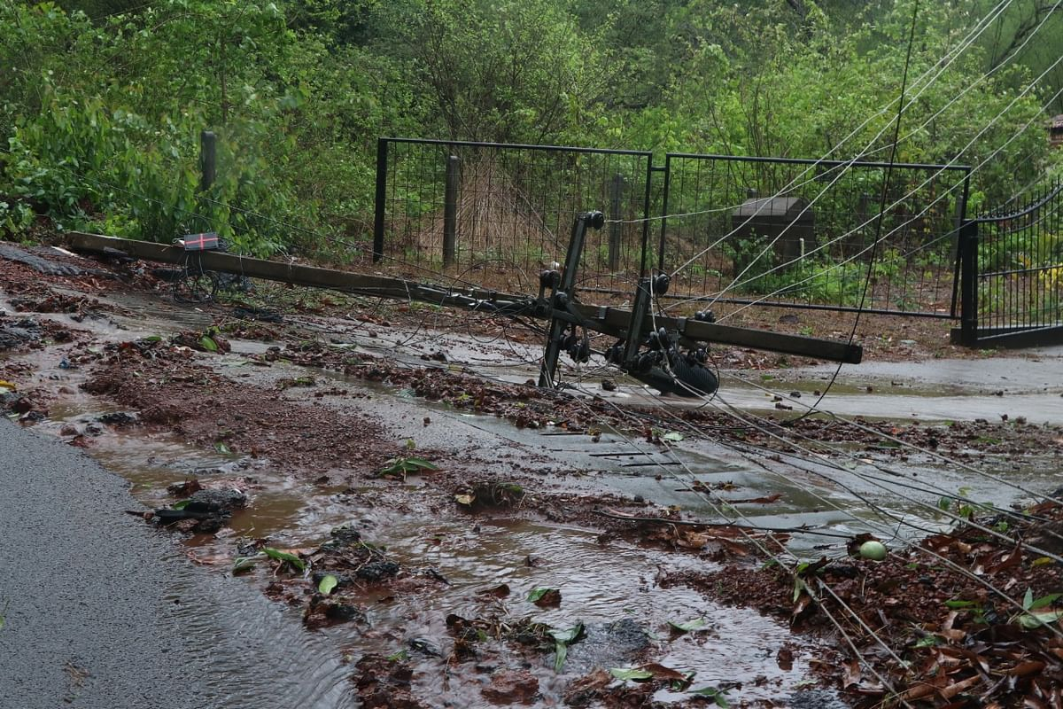 The Cyclone Tauktae led into the damage of roads while electricity poles were uprooted too in Goa