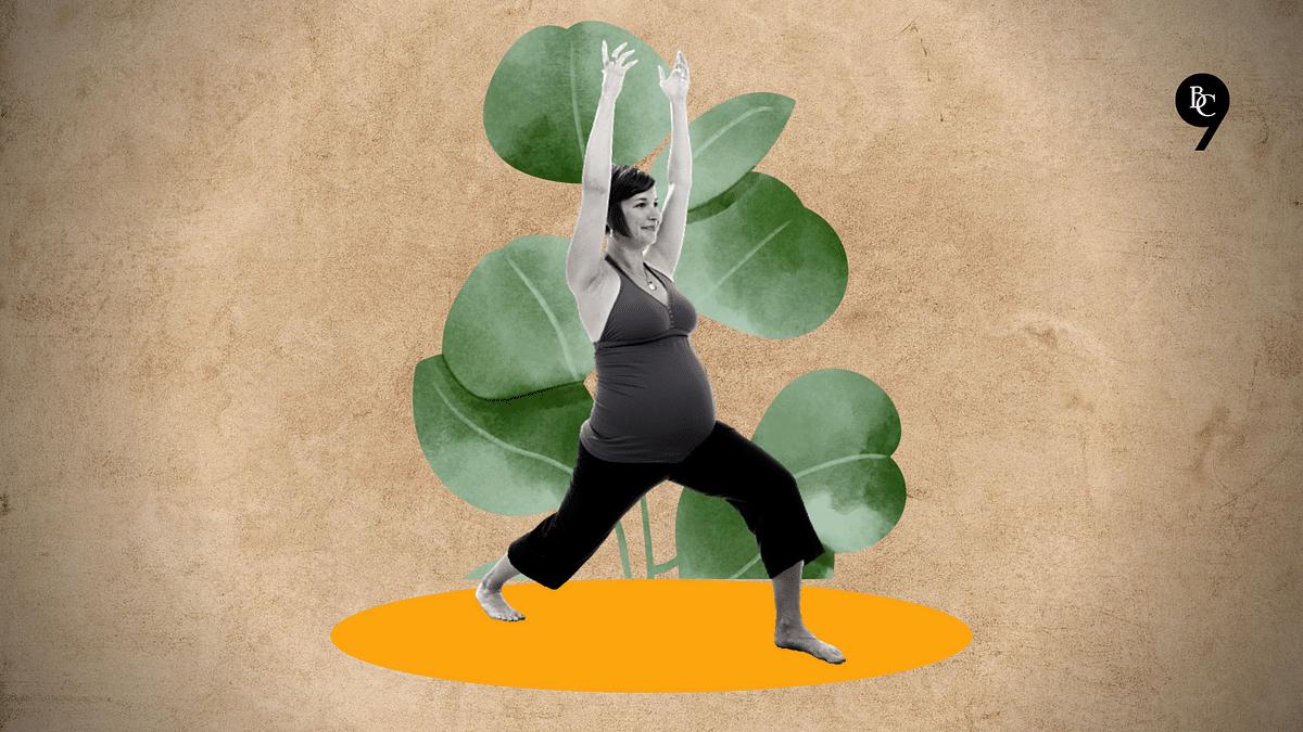 As part of prenatal yoga, one can practice Veerbhadrasana
