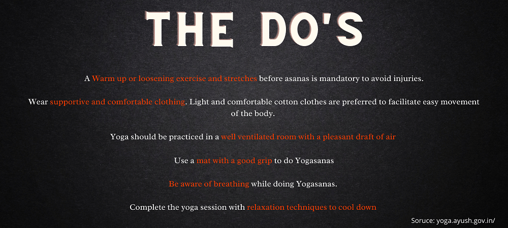 The Do's and Don'ts of Yoga