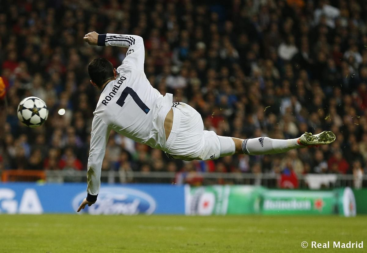 Cristiano at his artistic best